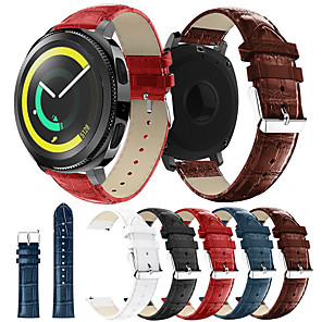 cheap Smartwatch Bands-Watch Band for Gear Sport / Gear S2 / Gear S2 Classic Samsung / Samsung Galaxy Leather Loop Genuine Leather Wrist Strap