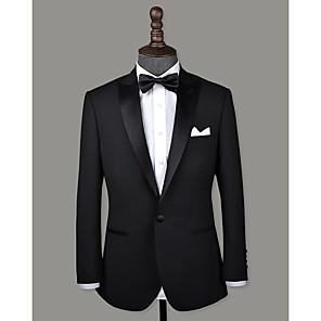 cheap Custom Tuxedo-Black peak lapel wool custom tuxedo