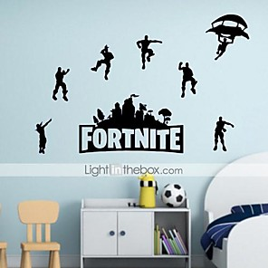 cheap Wall Stickers-FORTNITE GAME Decorative Wall Stickers - Plane Wall Stickers Bedroom / Study Room / Office