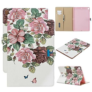 cheap iPad case-Case For Apple iPad Air / iPad 4/3/2 / iPad (2018) Wallet / with Stand / Flip Full Body Cases Flower PU Leather