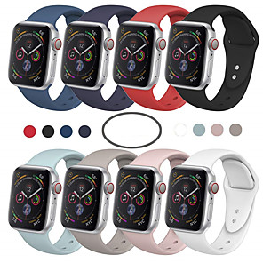 cheap Smartwatch Bands-Smartwatch Band for Apple Watch Series 5/4/3/2/1 Apple Sport Band Fashion Soft Comfortable Silicone Wrist Strap