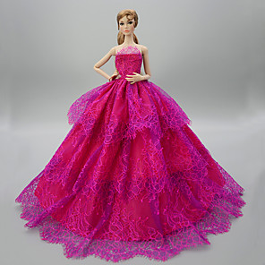 cheap Dolls Accessories-Doll accessories Doll Clothes Doll Dress Wedding Dress Party / Evening Wedding Ball Gown Sequin Tulle Lace Polyester For 11.5 Inch Doll Handmade Toy for Girl's Birthday Gifts  Doll Not Included