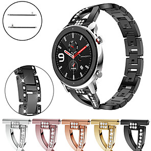 cheap Smartwatch Bands-Diamond Jewelry Stainless Steel Watch Band For Huami Amazfit GTR 47mm / 42mm / Stratos 3 / Stratos 2 2S / Pace / GTS / Bip Lite Replaceable Bracelet Wrist Strap Wristband