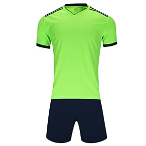 cheap Soccer Shoes-Men's Soccer Jersey and Shorts Clothing Suit Breathable Quick Dry Soft Team Sports Active Training Football Cotton Adults Teen White Fuchsia Yellow / Micro-elastic