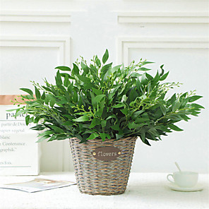 cheap Artificial Plants-1 Piece Wedding Flower Simulation Willow Leaves Fashion Artificial Plant