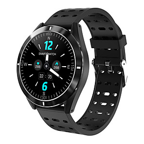 cheap Smartwatches-KUPENG KP6 Smartwatch for Samsung/ IOS/ Android Phones,  Full Round-screen Bluetooth Fitness Tracker Support Heart Rate Monitor/ Blood Pressure Measurement/ Distance Tracking