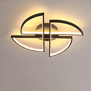 cheap Dimmable Ceiling Lights-1-Light 45 cm LED Flush Mount Lights Metal Linear Painted Finishes LED Modern 110-120V 220-240V