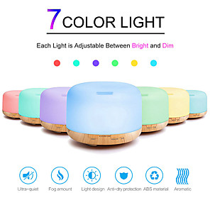 cheap Video Door Phone Systems-Air Humidifier Essential oil diffuser 500ML Ultrasonic Cool Mist Maker Fogger Humidifier LED Lamp Aroma Oil Diffuser Electric