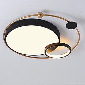 cheap Ceiling Lights-1-Light Simple Modern Led Ceiling Lamp Room Lighting Creative Warm Romantic Circular Lamps Lighting 28W