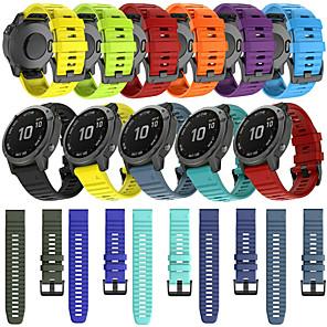 cheap Smartwatch Bands-Quick Release Silicone Watch Band For Garmin Fenix 6 Pro / Fenix 5 Plus / Approach S60 / Forerunner 935 / Quatix5 Sapphire Watch Easy fit Replaceable Sport Bracelet Wrist Strap Wristband