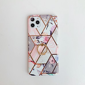 cheap iPhone Cases-Case for Apple scene map iPhone 11 11 Pro 11 Pro Max X XS XR XS Max 8 Colorful marble flower pattern ring bracket plating TPU material IMD process all-inclusive mobile phone case