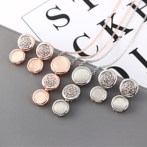 cheap Jewelry Sets-Women's Synthetic Sapphire Pendant Necklace Earrings Briolette Pear Classic Vintage Earrings Jewelry Gold / Silver For Party Holiday Festival Two-piece Suit