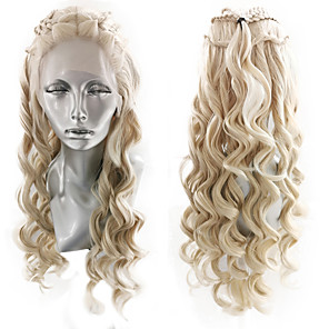 cheap Makeup Brush Sets-Synthetic Lace Front Wig Wavy Box Braids Middle Part Braid Lace Front Wig Blonde Long Blonde Synthetic Hair 18-26 inch Women's Cosplay Soft Adjustable Blonde