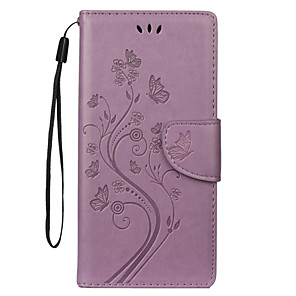 cheap Samsung Case-Case For Samsung Galaxy S7 edge / S7 / Galaxy Note 10+ Card Holder Full Body Cases Butterfly / Flower PU Leather