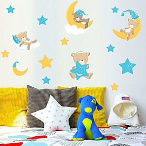 cheap Wall Stickers-Decorative Wall Stickers - Plane Wall Stickers Bears / Stars Nursery / Kids Room