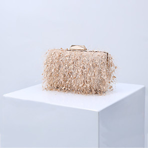 cheap Clutches & Evening Bags-Women's Tassel Polyester Evening Bag Solid Color Black / Blushing Pink / Almond