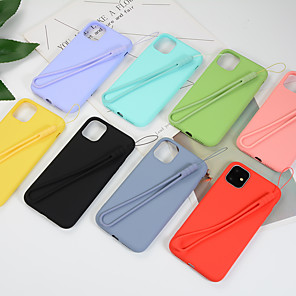 cheap iPhone Cases-Case For Apple iPhone 11 / iPhone 11 Pro / iPhone 11 Pro Max Shockproof Back Cover Solid Colored Silica Gel