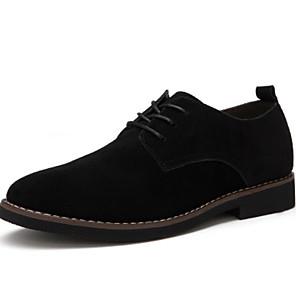 cheap Men's Oxfords-Men's Comfort Shoes Suede Fall & Winter Oxfords Black / Dark Brown / Dark Blue