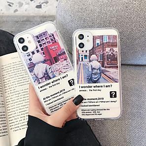 olcso iPhone tokok-Case Kompatibilitás Apple iPhone 11 / iPhone 11 Pro / iPhone 11 Pro Max Ütésálló Fekete tok Rajzfilm TPU