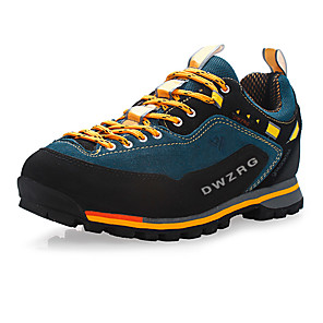 cheap Backpacks & Bags-Men's Sneakers Hiking Shoes Mountaineer Shoes Rubber Hiking Leisure Sports Backcountry Waterproof Breathable Anti-Slip Nubuck leather Leather Blue Red Green / Cushioning / Ventilation