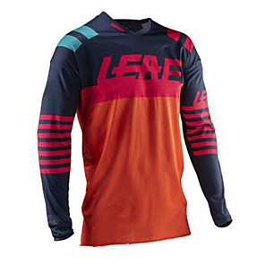 cheap Cycling Jerseys-21Grams Men's Long Sleeve Cycling Jersey Downhill Jersey Dirt Bike Jersey Winter Black / Red Patchwork Bike Jersey Top Mountain Bike MTB Road Bike Cycling Thermal / Warm UV Resistant Breathable Sports