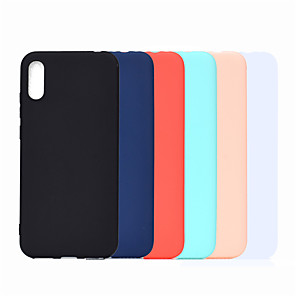 cheap Samsung Case-Case For Huawei Huawei P20 Pro / Huawei P20 lite / Huawei P30 Frosted Back Cover Solid Colored TPU