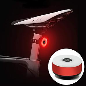cheap Bike Lights & Reflectors-LED Bike Light Rear Bike Tail Light Bicycle Cycling Portable Durable Lightweight Rechargeable Li-Ion Battery 10 lm Rechargeble Battery Red Cycling / Bike