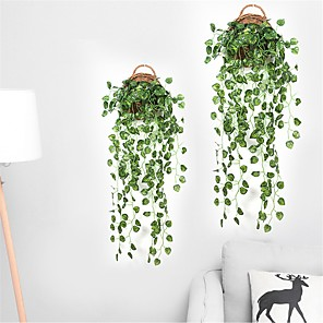 cheap Artificial Plants-90cm Party Home Hotel Wall Hanging Decoration Artificial  Watermelon Grapes Leaf Silk Plants Plant Leaves Rattan Vine