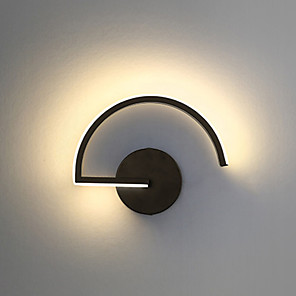 cheap Indoor Wall Lights-Nordic Line Black And White Creative Personality Wall Lamp Designer Decorative Led Bedroom Bedside Modern Corridor Wall Lamp