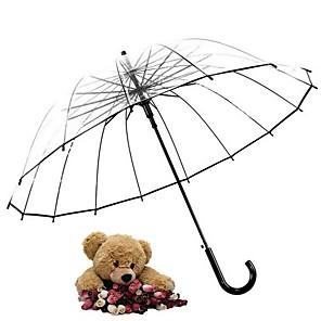 Недорогие Зонты-пластик Все Солнечный и дождливой Зонт-трость
