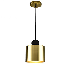 cheap Indoor Wall Lights-1-Light QINGMING® 18 cm Mini Style Pendant Light Metal Geometrical Electroplated / Painted Finishes Artistic 110-120V / 220-240V