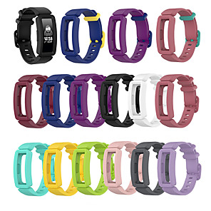 baratos Bandas de Smartwatch-Substituição clássico pulseira de pulseira de silicone pulseira pulseira para fitbit ace 2 crianças assistir banda para inspirar / inspirar hr watch band