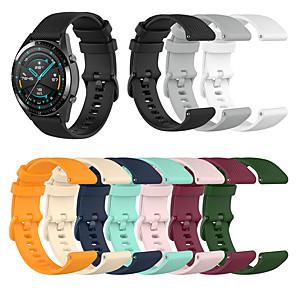 halpa Smartwatch-nauhat-katsella nauha huawei katsella gt2 46mm / huawei katsella gt2 42mm huawei urheilu bändi / klassinen solki silikoni rannehihna