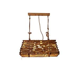 cheap Pendant Lights-QIHengZhaoMing 3-Light 29 cm Chandelier Wood / Bamboo Wood / Bamboo Vintage 110-120V / 220-240V