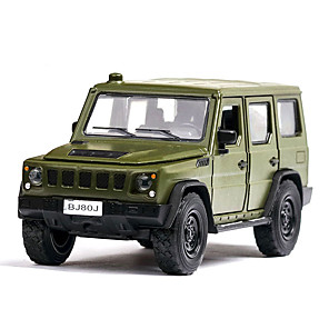 cheap Toy Cars-1:32 Toy Car Music Vehicles Chariot Construction Truck Set Military Vehicle SUV Glow Focus Toy Parent-Child Interaction Zinc Alloy Rubber ABS+PC Mini Car Vehicles Toys for Party Favor or Kids