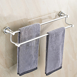 cheap Towel Bars-Towel Bar New Design / Cool Modern Stainless Steel 1pc 2-tower bar Wall Mounted