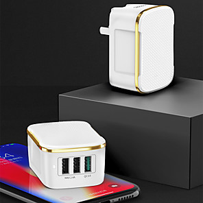 cheap Fast Chargers-Fast Charger USB Charger EU Plug / UK Plug 3 A 100~240 V for iPhone 11 / iPhone 11 Pro / iPhone 11 Pro Max