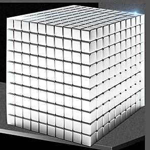 cheap Building Blocks-1000 pcs 5mm Magnet Toy Magnetic Balls Magnet Toy Building Blocks Super Strong Rare-Earth Magnets Neodymium Magnet Magnet Cube Magnetic Square Shaped Stress and Anxiety Relief Office Desk Toys