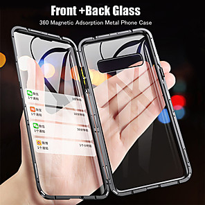 cheap Samsung Case-Case For Samsung Galaxy S9 / S9 Plus / S8 Plus Flip / Magnetic Full Body Cases Transparent Tempered Glass / Metal