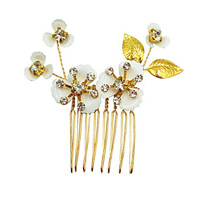 cheap Wedding Gifts-Alloy Hair Combs / Hair Tool / Hair Accessory with Sparkling Glitter / Glitter / Floral 1pc Wedding / Birthday Headpiece