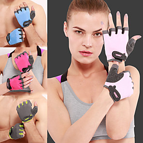 cheap Fitness Gear & Accessories-AOLIKES Workout Gloves 2 pcs Sports Silica Gel Terry Cloth Microfiber Sponge Exercise & Fitness Gym Workout Weightlifting Adjustable Anti Slip Durable Thicken Full Palm Protection & Extra Grip