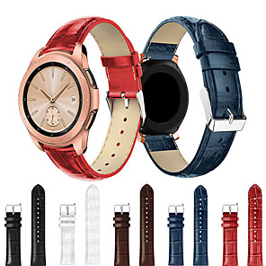 cheap Smartwatch Bands-Smartwatch Band for Samsung Galaxy 42 / Active / Active2 / Gear S2 / S2 Classic / sport Band Fashion comfortable Leather Loop Genuine Leather Wrist Strap 20mm