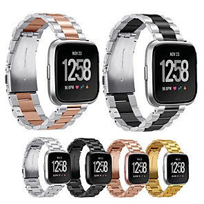 cheap Smartwatch Bands-Metal Stainless Steel Watch Band For Fitbit Versa 2 / Versa Lite Replaceable Bracelet Wrist Strap Wristband