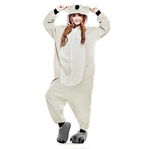 cheap Kigurumi Pajamas-Adults' Kigurumi Pajamas Koala Animal Onesie Pajamas Polar Fleece Gray Cosplay For Men and Women Animal Sleepwear Cartoon Festival / Holiday Costumes