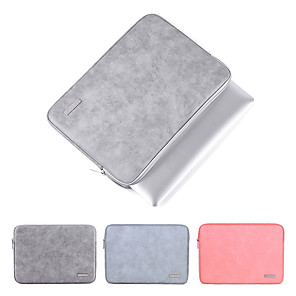cheap Sleeves,Cases & Covers-2019 Waterproof PU Leather Laptop Sleeve Case For Macbook Pro Air 13 14 15 inch Notebook Computer PC Cover Pouch for Dell HP