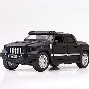 cheap Toy Cars-1:32 Toy Car Vehicles Chariot Race Car Construction Truck Set Military Vehicle Race Car Special Designed Glow Parent-Child Interaction Zinc Alloy Rubber ABS+PC Mini Car Vehicles Toys for Party Favor