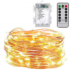 cheap LED String Lights-1set Holiday Lighting String AA Battery Operate 5m 50LED Outdoor Indoor Decoration Fairy Lights Holiday LED String