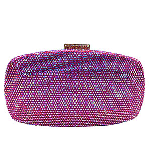 cheap Clutches & Evening Bags-Women's Crystals / Glitter Alloy Evening Bag Champagne / Silver / Fuchsia
