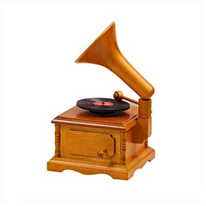 cheap Music Boxes-QIAOJIANG HOUSE Music Box Wooden Music Box Antique Music Box Vintage Unique Women's Girls' Kid's Adults Graduation Gifts Toy Gift