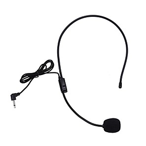 cheap Portable Speakers-New Lightweight Portable Microphone Headphone with 3.5mm Cable Conference Guide Connector Headset Microphone for Meeting Teaching